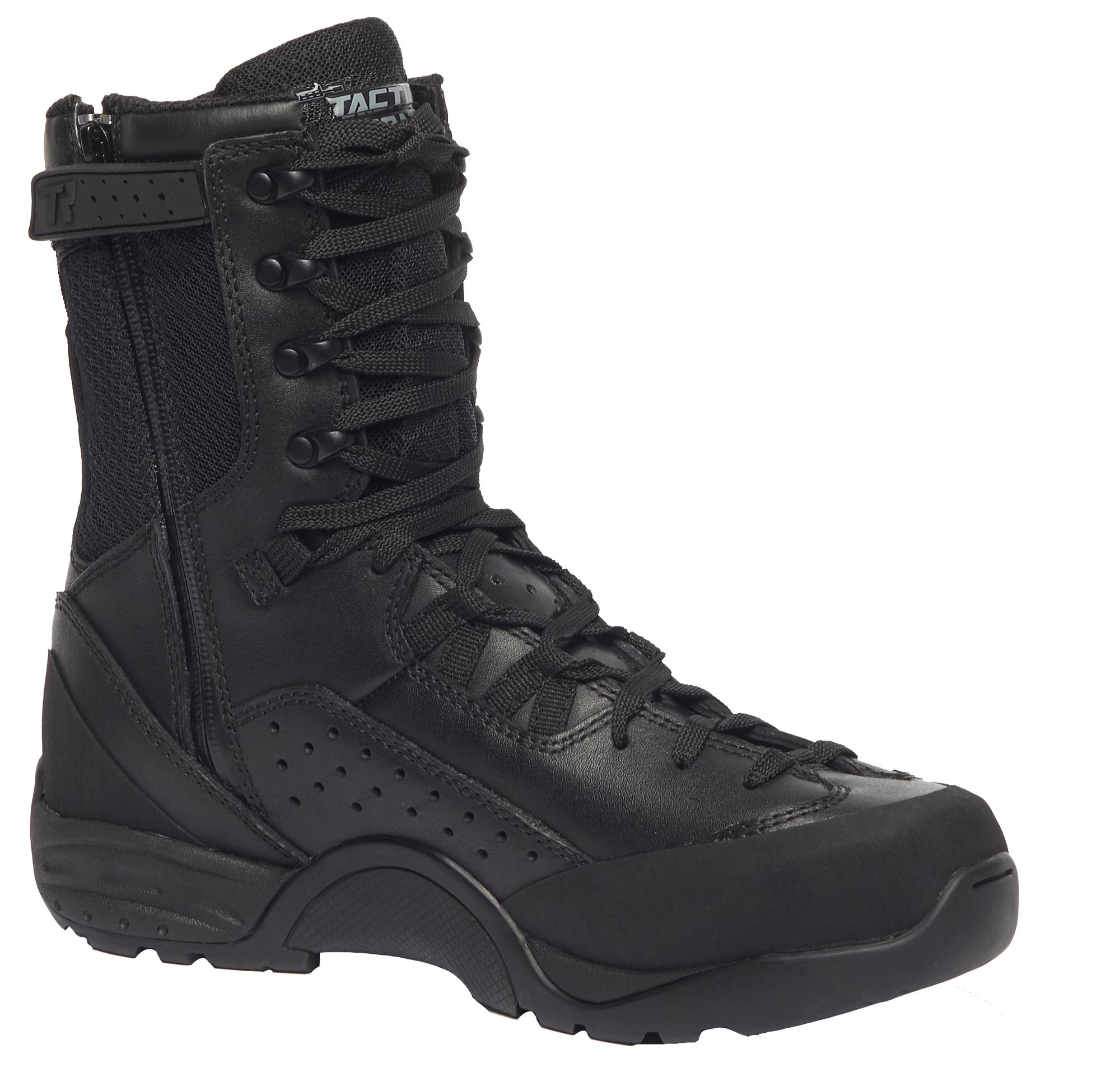 Belleville Hot Weather Tactical Zip Boots Unisex Black Leather/Mesh