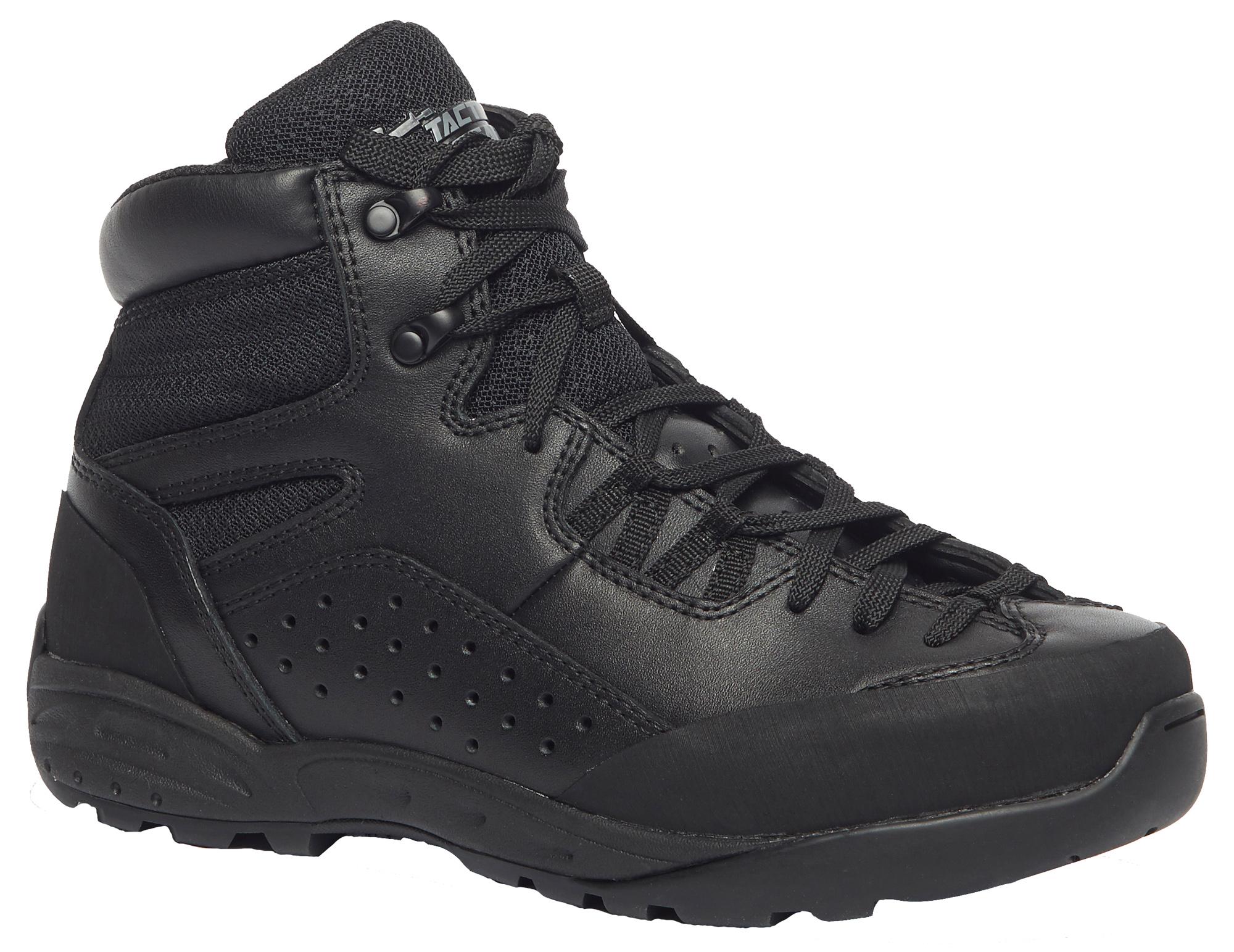 Belleville Mid-Cut Tactical Boots Unisex Black Leather/Mesh