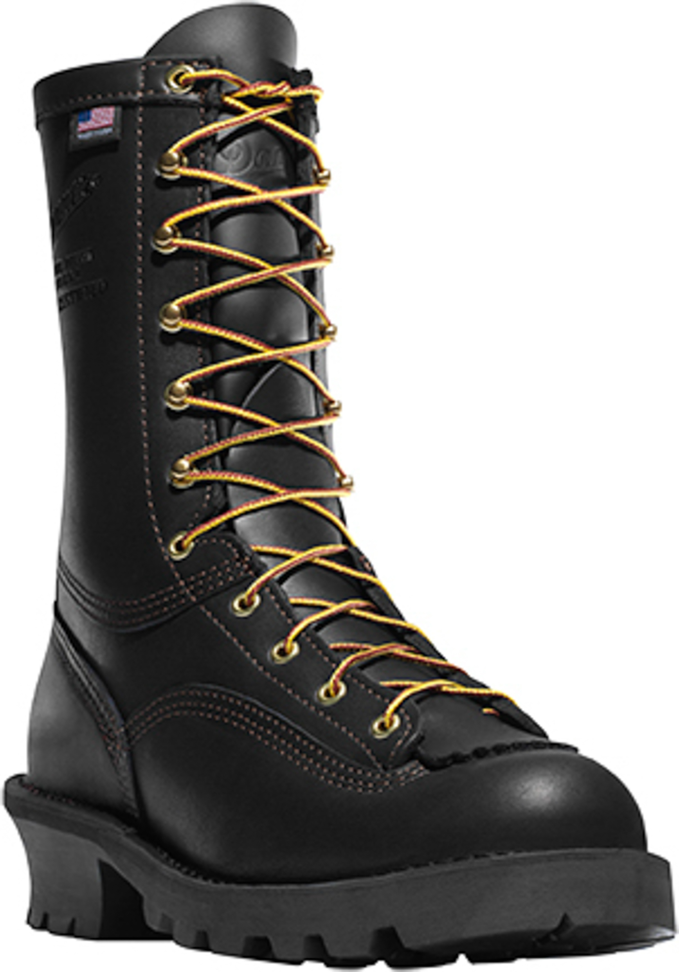 danner flashpoint ii 10in mens black leather firefighter