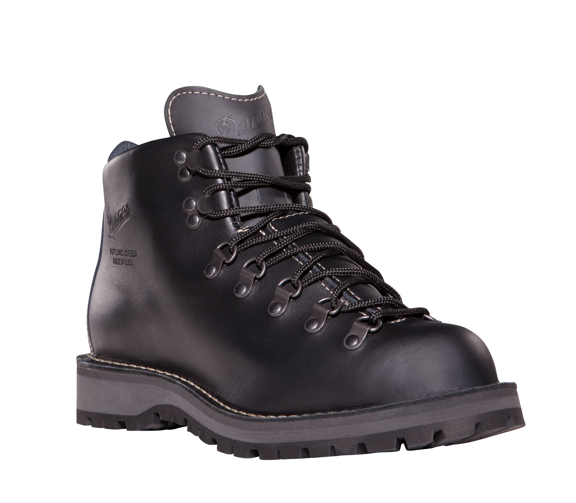 danner mountain light ii 5in mens black leather usa hiking