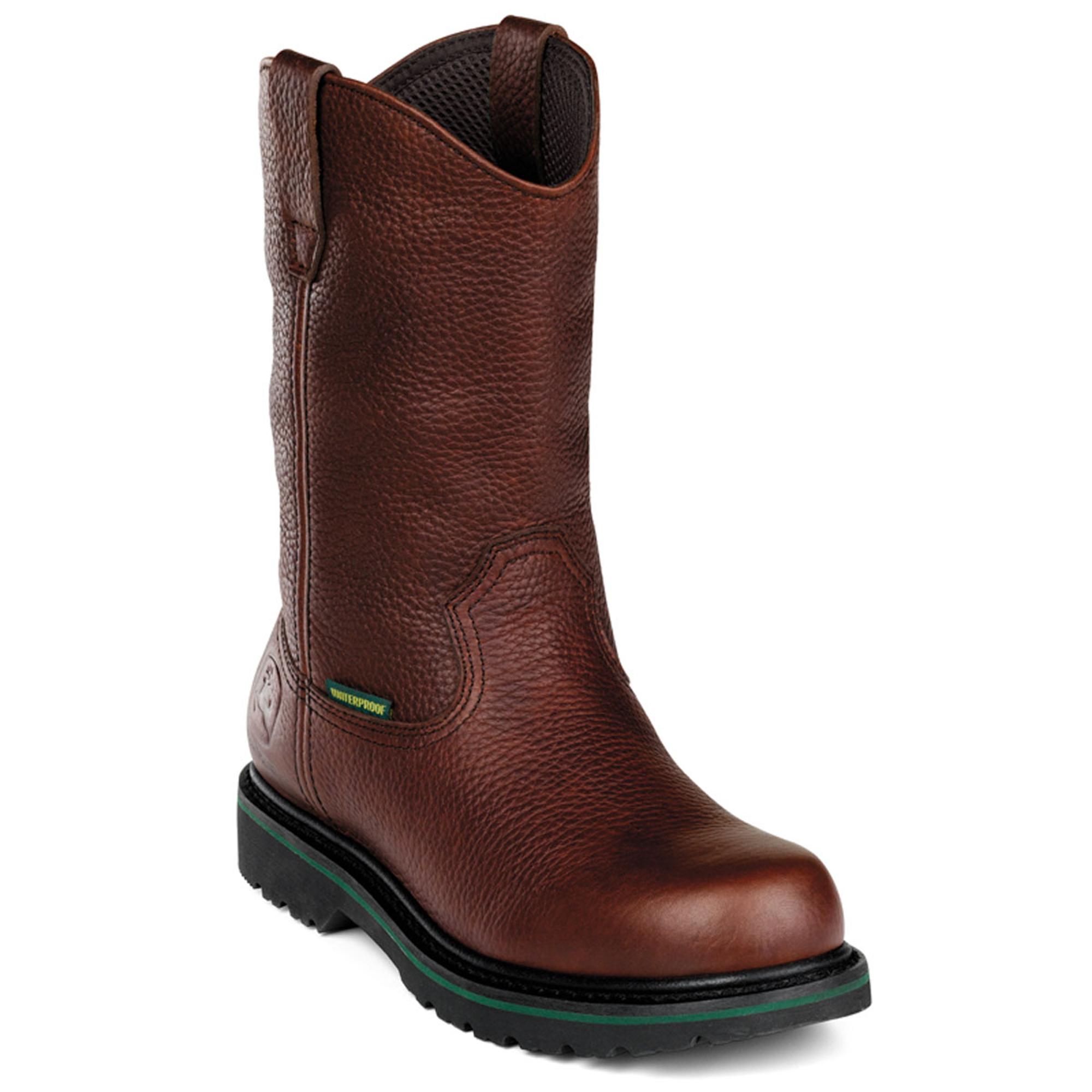 deere mens brown leather 10in waterproof steel