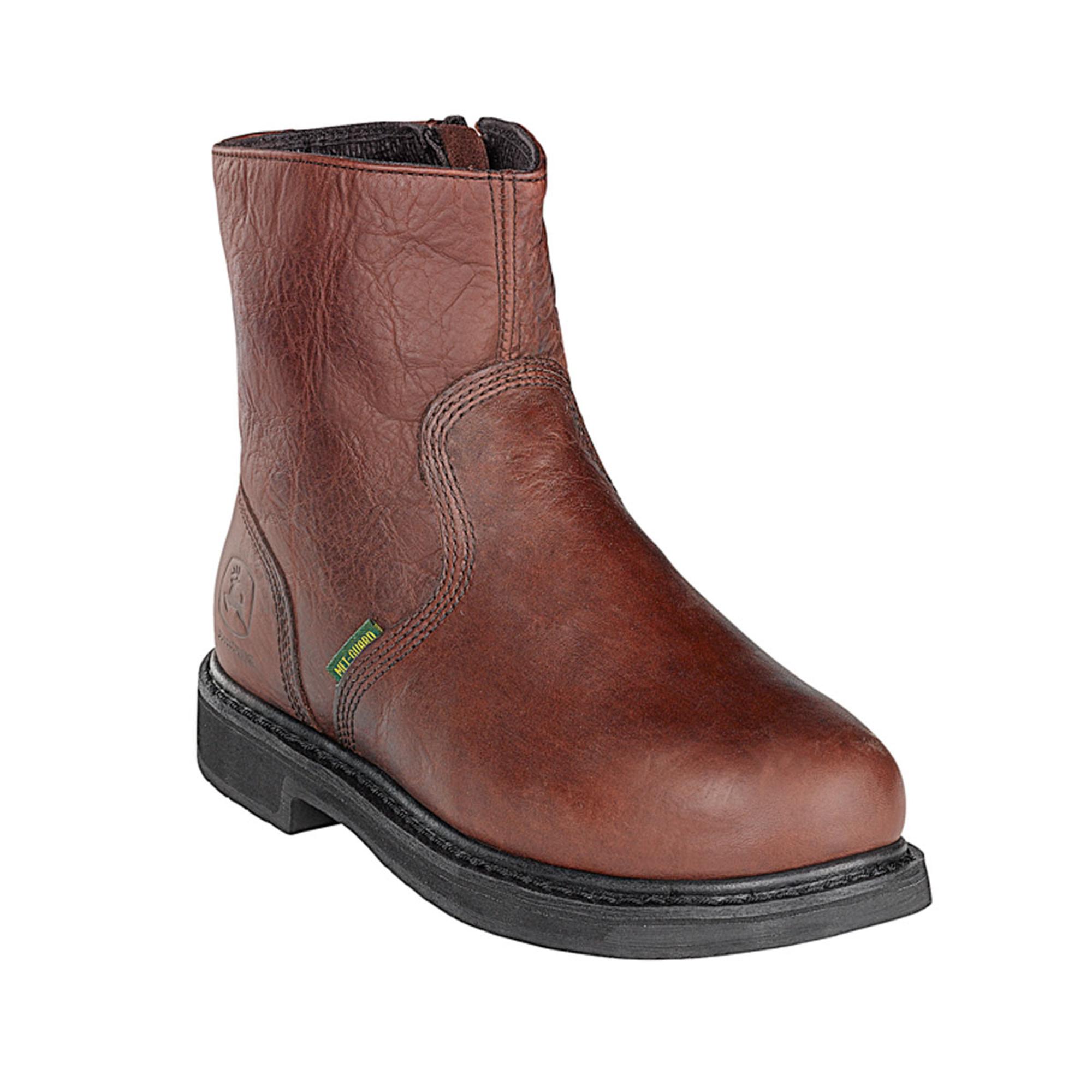 John Deere Mens Brown Leather 7 Quot Metatarsal Steel Toe Side