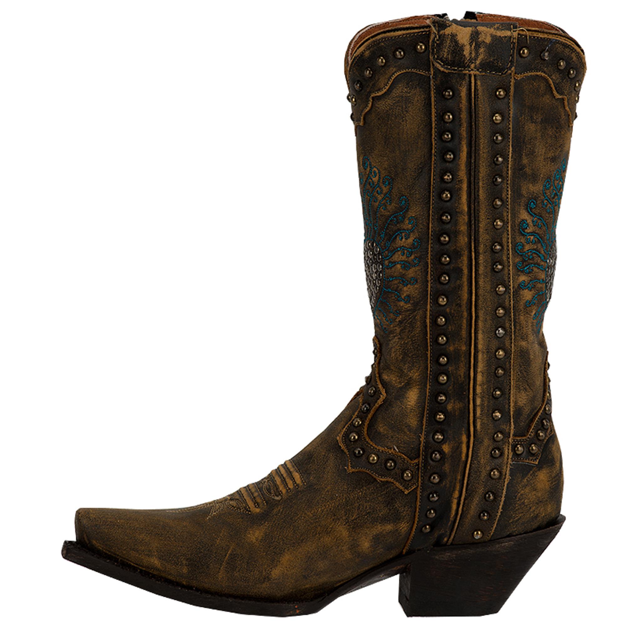 dan post womens brown breaker distressed leather