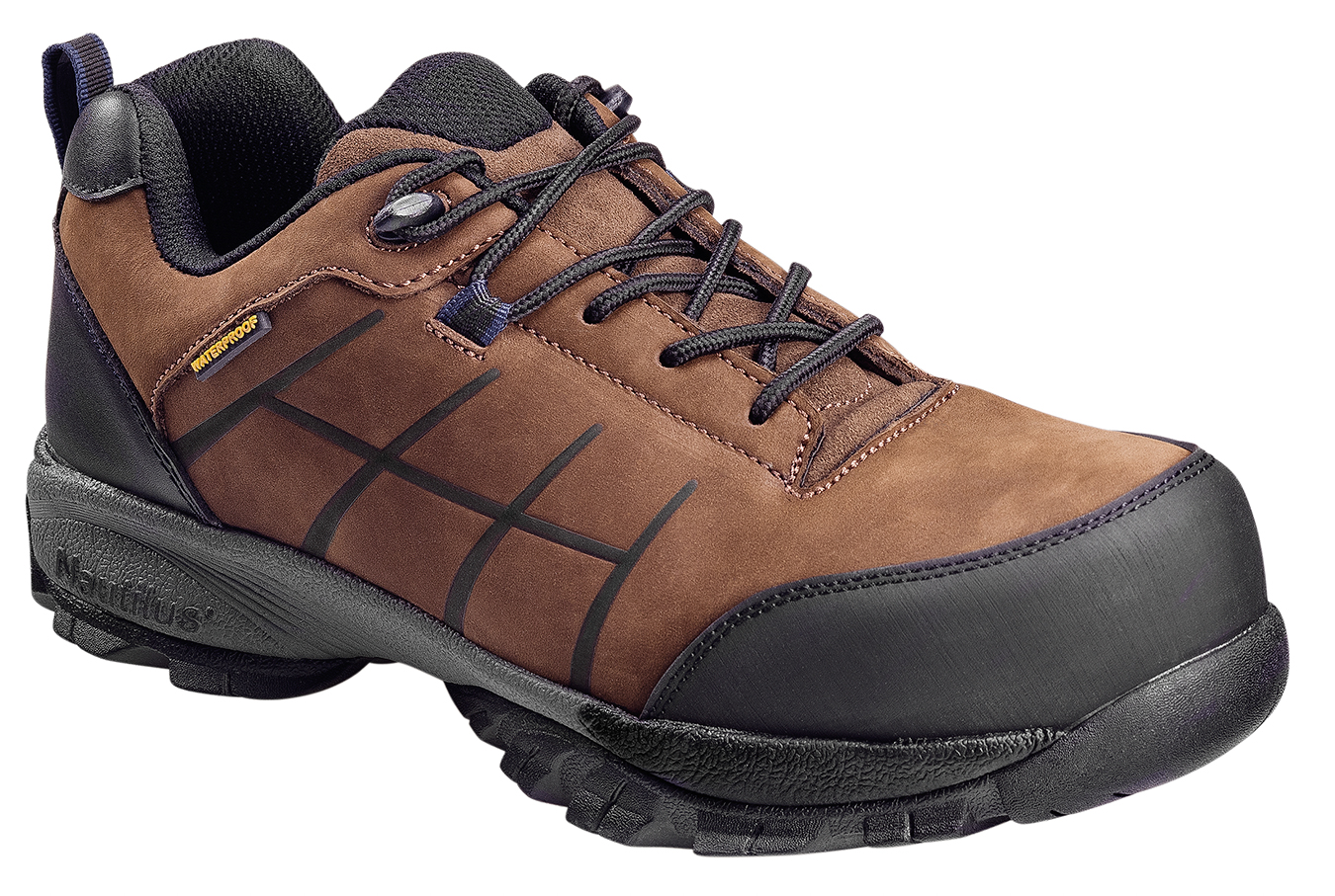 Mens SD WP Oxford M Brown Leather Waterproof Shoes 7 D