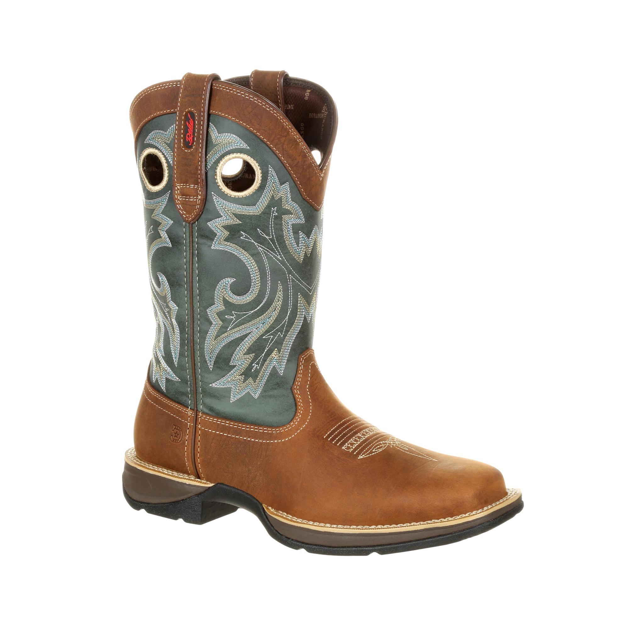 Durango Mens Clover/Saddle Leather Rebel PullOn Cowboy Boots