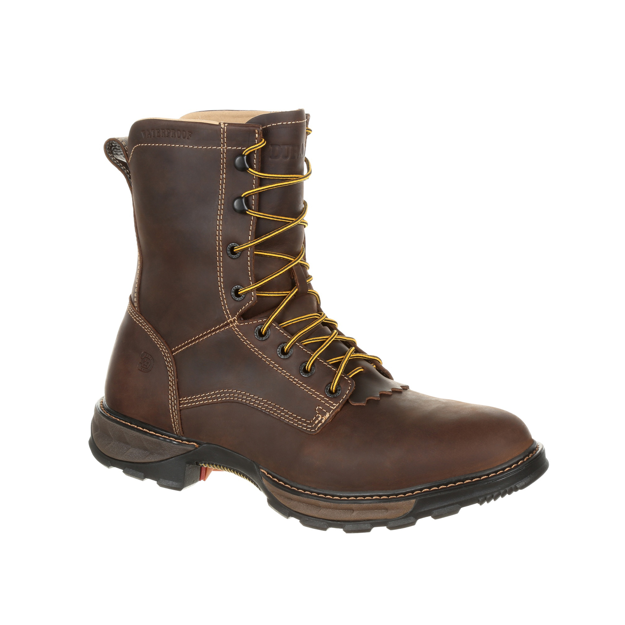 Durango Mens Oiled Brown Leather Maverick WP Work Boots