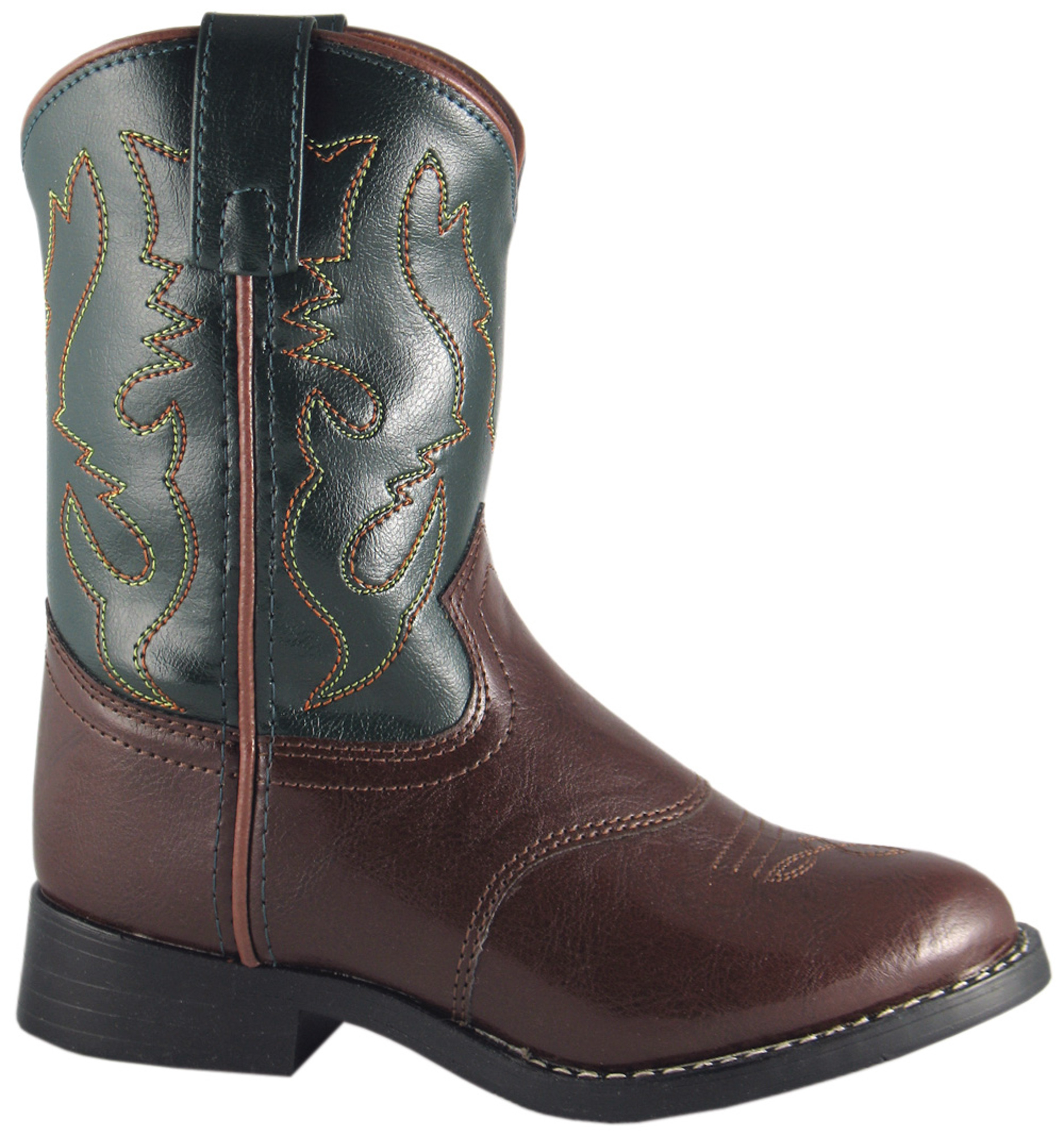 smoky mountain boots youth boys diego brown green faux