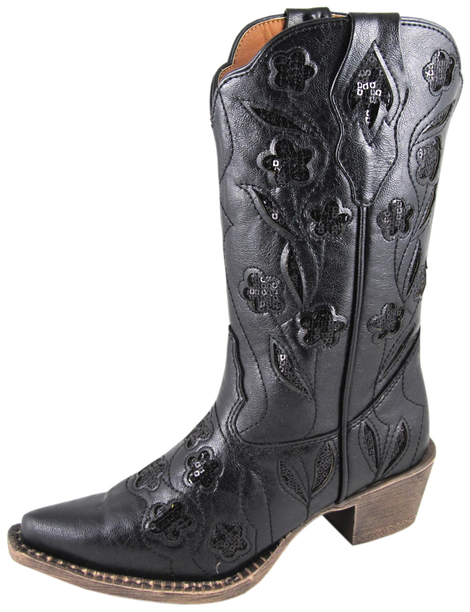 smoky mountain boots children black faux