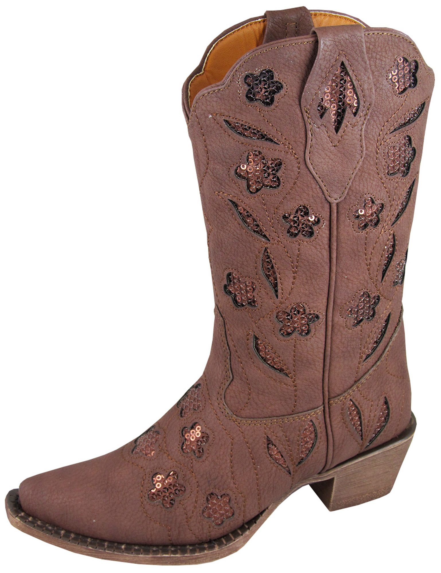 smoky mountain boots children brown faux