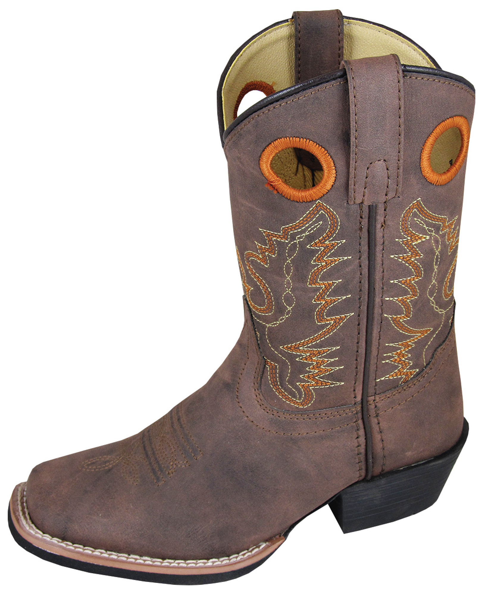 smoky mountain boots youth boys brown faux leather