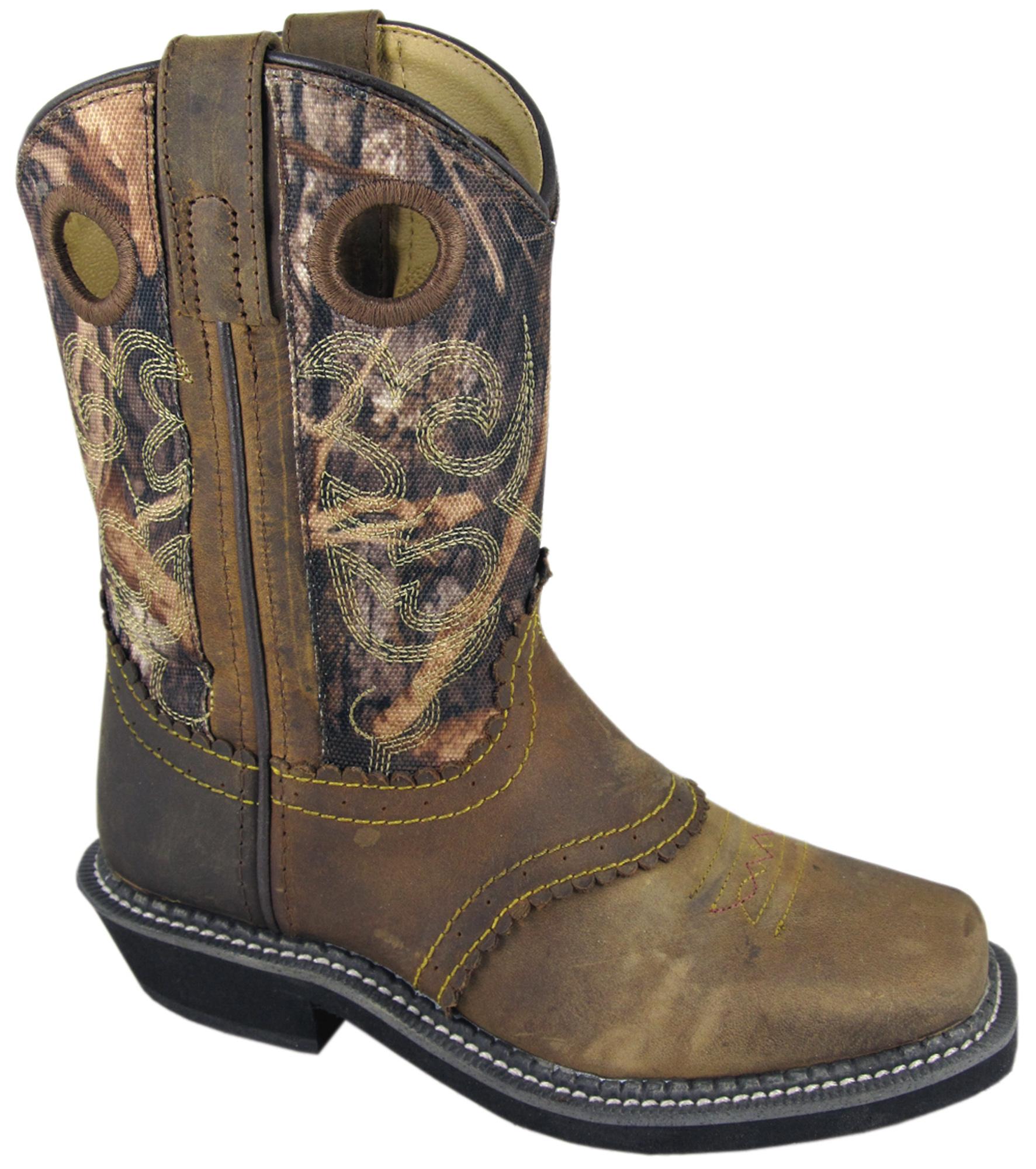 smoky mountain boots children boys pawnee brown camo