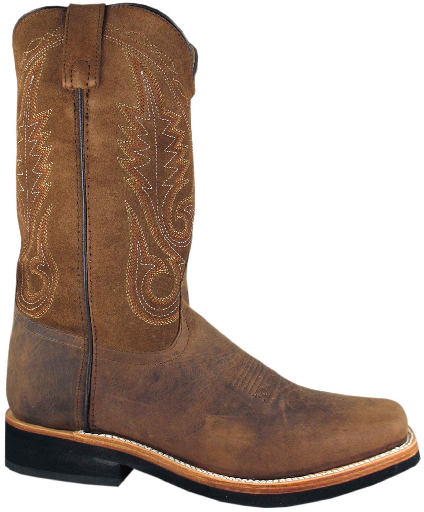 smoky mountain boots mens boonville brown distress leather