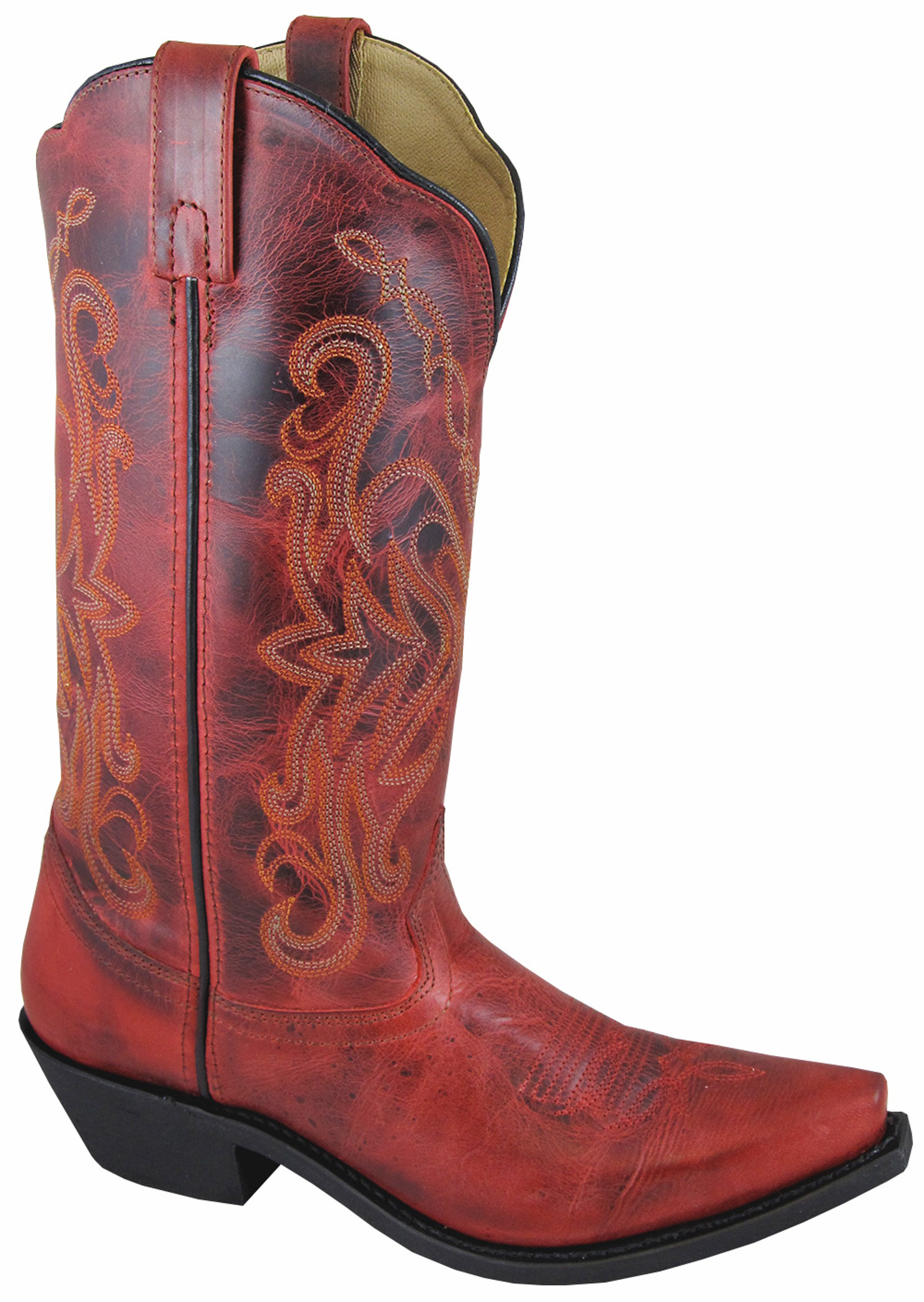 Popular Ariat Western Boots Womens Unbridled Leather Cowboy Powder Brown/Red 10010198 | EBay