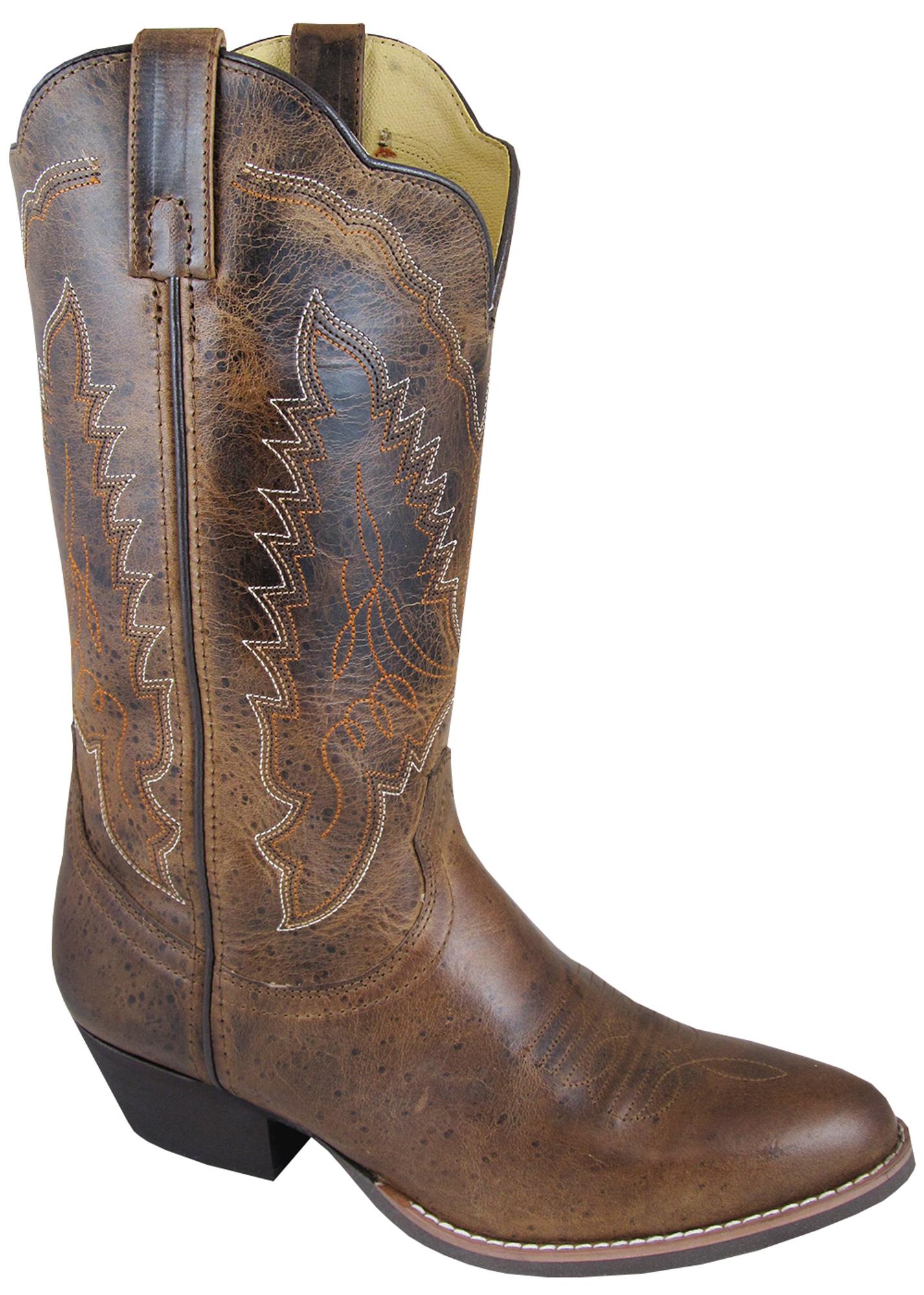 smoky mountain boots womens amelia brown distress leather