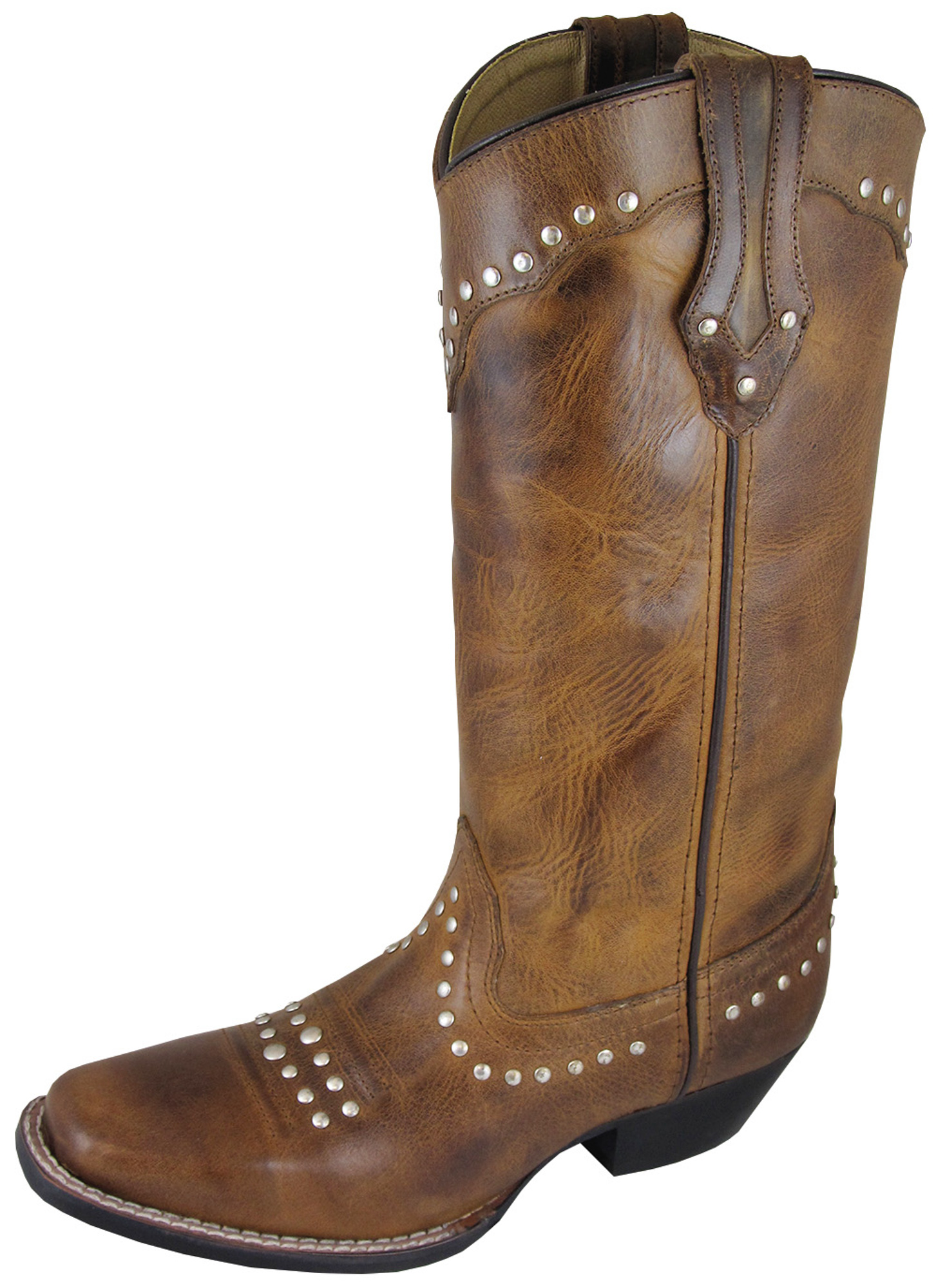 smoky mountain boots womens laurel brown leather square