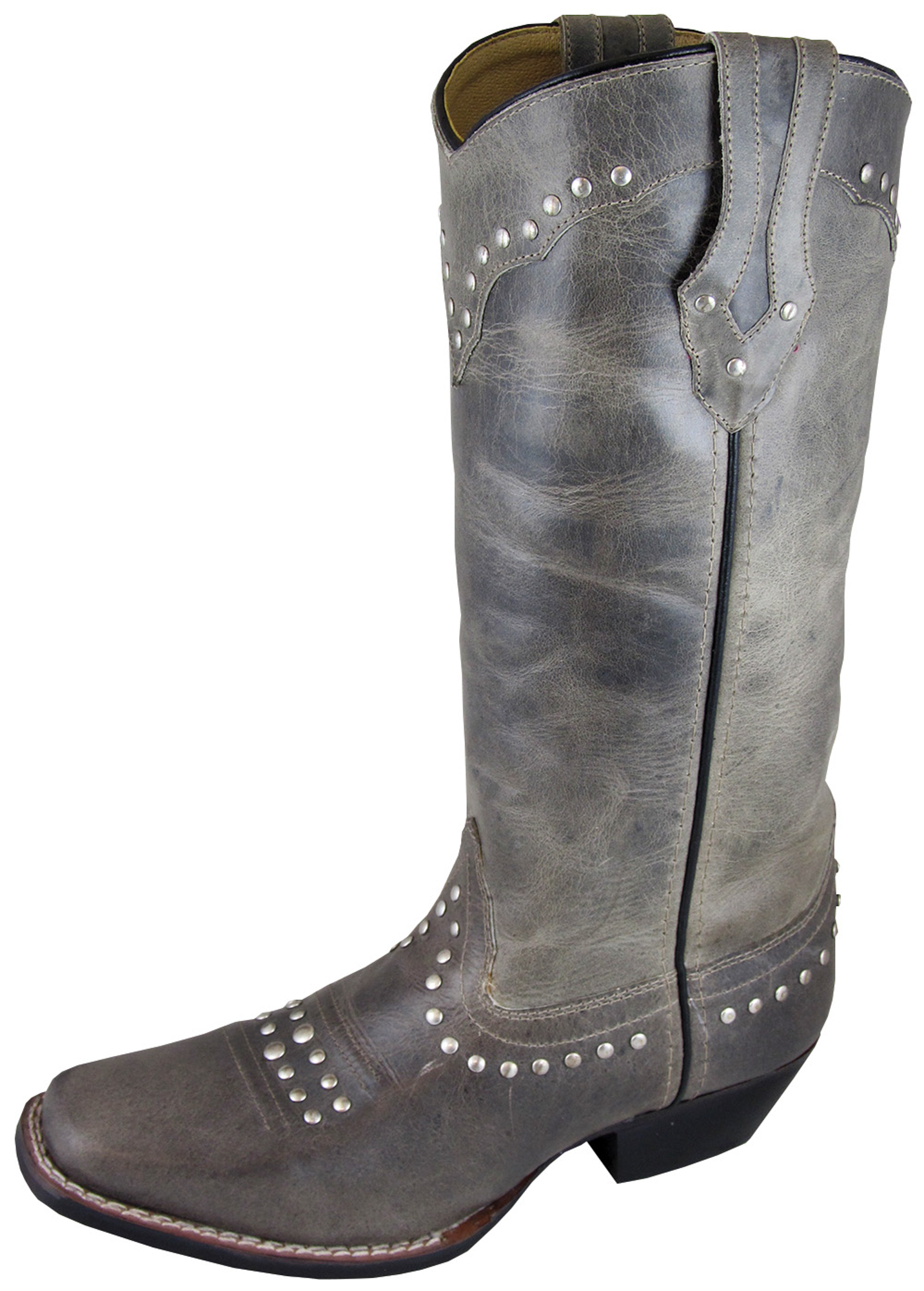 smoky mountain boots womens laurel gray leather square toe