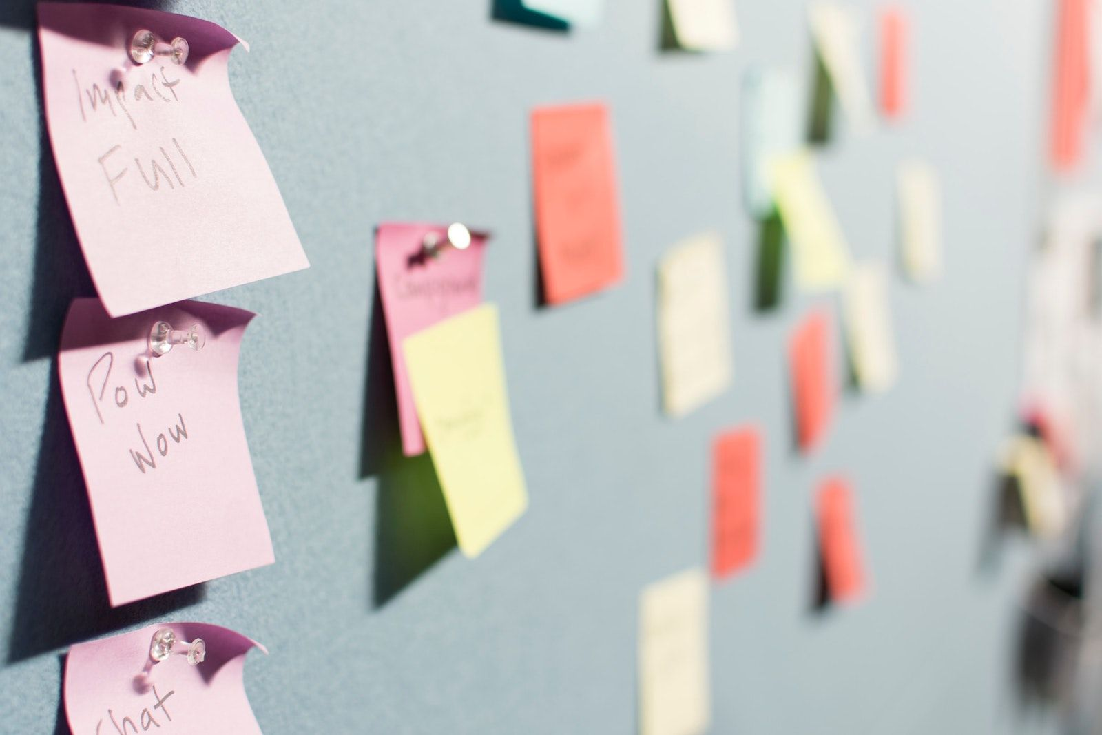 Options in Entrepreneurship post it notes