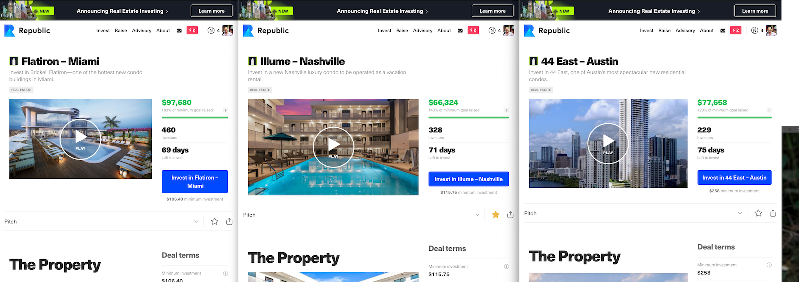 Image of Republic Real Estate home screen