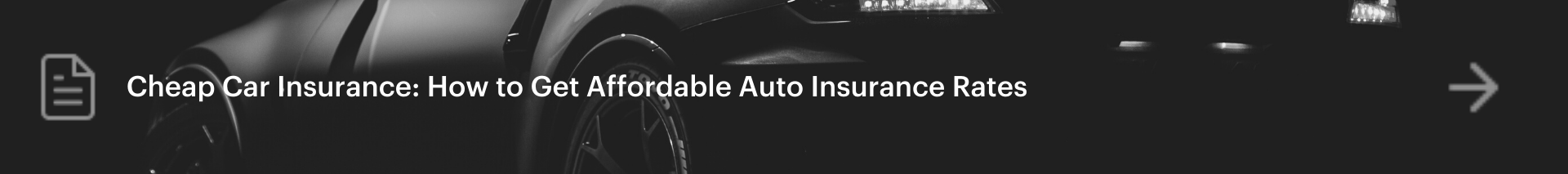 How to get affordable car insurance rates