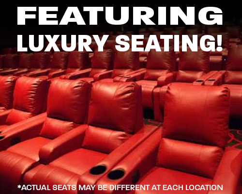 Luxury Seating available at Amherst Theatre