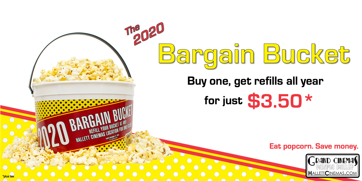 When you buy a 2020 Bargain Bucket, get refills for $3.50 (plus tax) all year long!