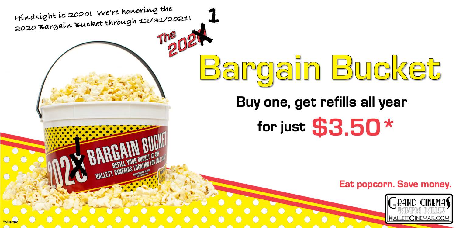 When you buy a 2020/2021 Bargain Bucket, get refills for $3.50 (plus tax) all year long through 12/31/21!