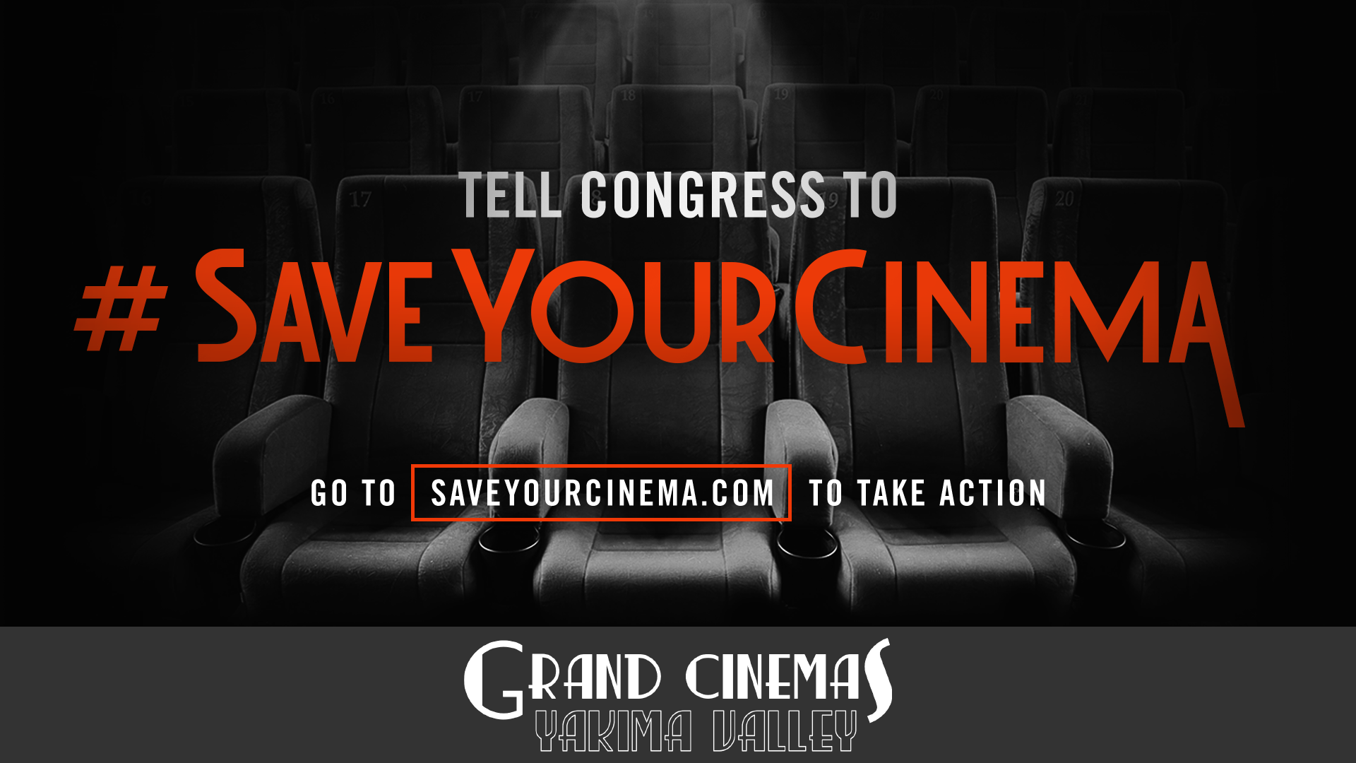 Movie theaters need our help! Without government aid, theaters across America are at risk of permanently closing. Act now and send a letter to tell your legislators to #SaveYourCinema: http://saveyourcinema.com