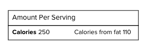 calories, Reading Food Labels