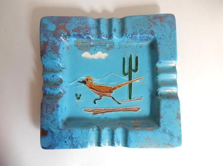 Mid Century Road Runner & Cactus Ashtray