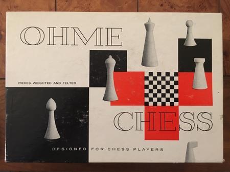 Ohme Chess Set w/Box, Outside of box