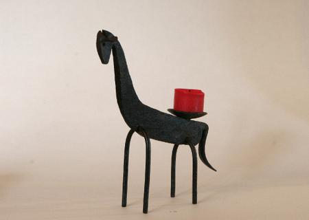 Abstract Llama Candle Holder Sculpture