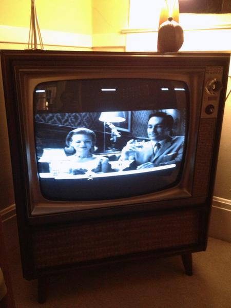 "27"" Zenith B&W TV"