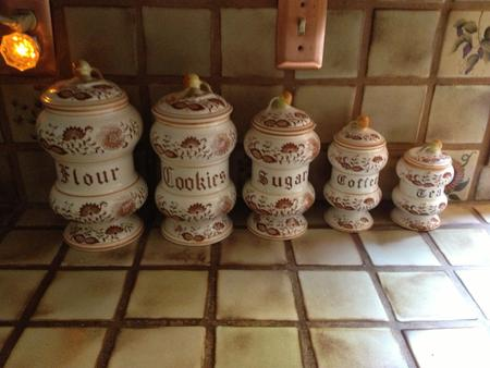 Brown Onion Canisters + Cookie Jar