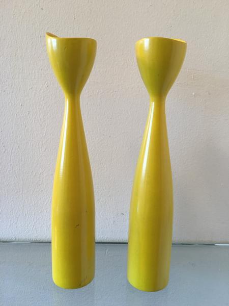 Yellow Danish Styled Candlesticks