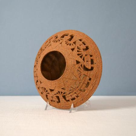 Vintage Ceramic Lantern w/Mushrooms