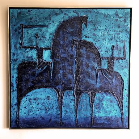 Warriors on Horses Painting