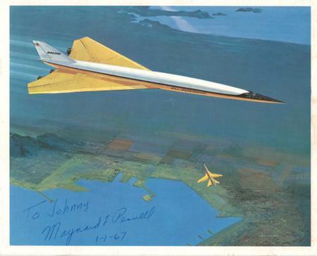 Signed Boeing SST 2707 Drawing