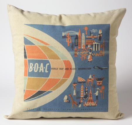 BOAC Throw Pillows