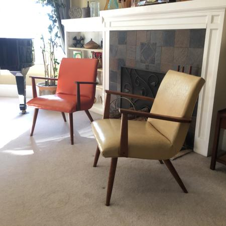 Set of Two Atomic Chairs