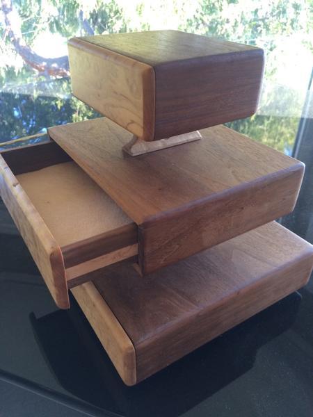3 Tier Handmade Jewelry Box