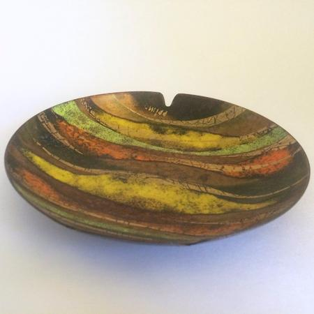 Abstract Enameled Ashtray