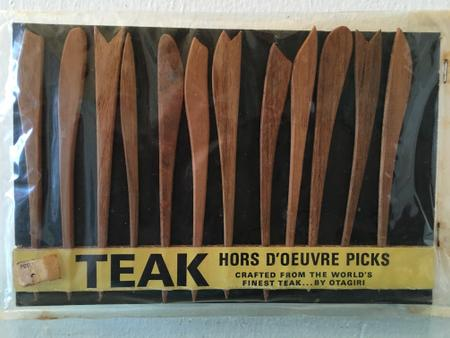Teak Hors Doeuvres Picks, Have 3 sets of these