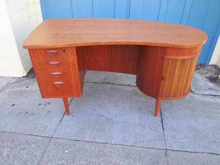 Danish Teak Kidney Desk