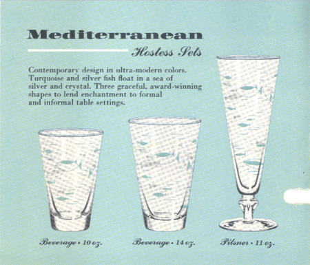 Mediterranean, From Libbey's Fall 1955 catalog