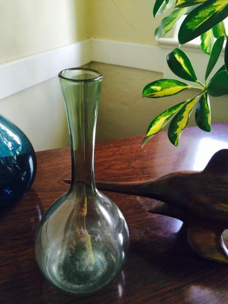 Gullaskruf Small Green Vase