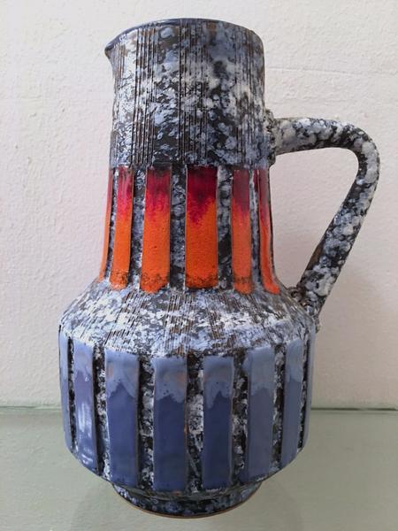 Italian Handled Pitcher Vase