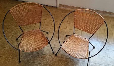 Pair of Children's Hoop Chairs