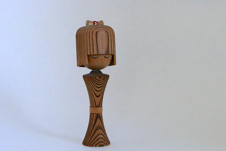 Mid Century Kokeshi Doll