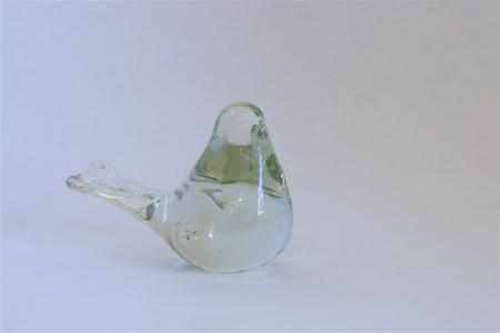 Viking Glass Sparrow Paperweight, Picture of my bird