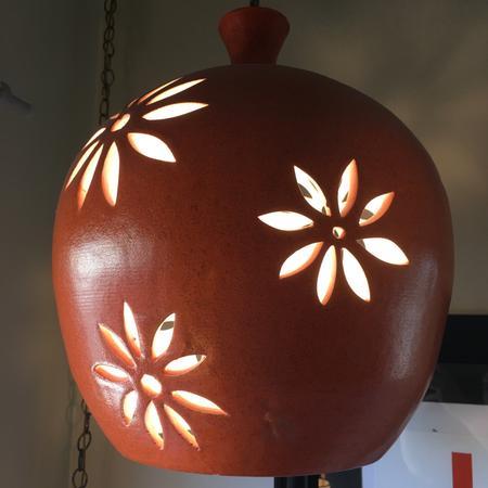 Large Orange Hanging Lamp